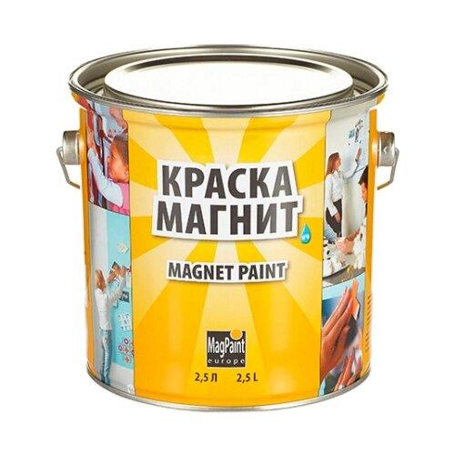 Краска латексная MAGPAINT Магнитная краска для детской матовая темно-серый 2.5 л