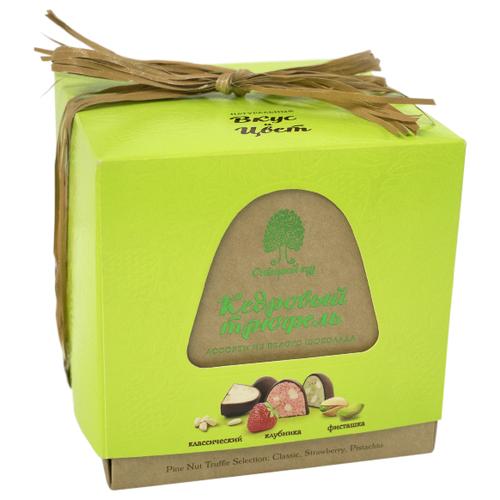 Набор конфет Сибирский кедр Кедровый трюфель ассорти из белого шоколада 120 г