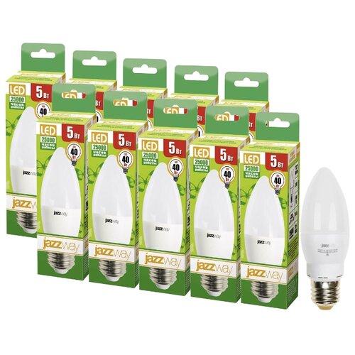 Упаковка светодиодных ламп 10 шт jazzway E27, C37, 5Вт