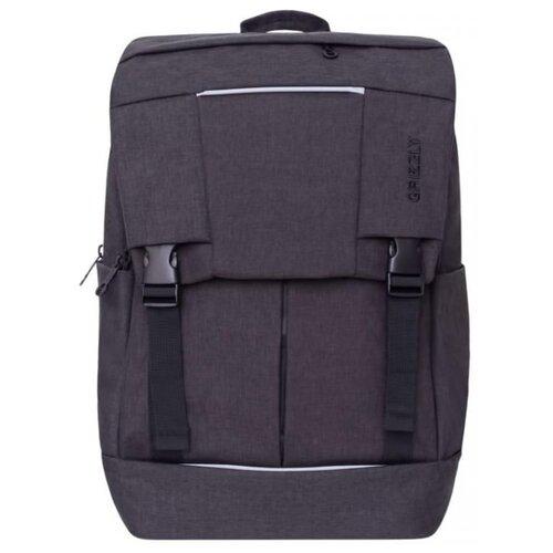 Рюкзак Grizzly RU-810-1 9.5 черный рюкзак городской grizzly цвет синий ru 804 1 4
