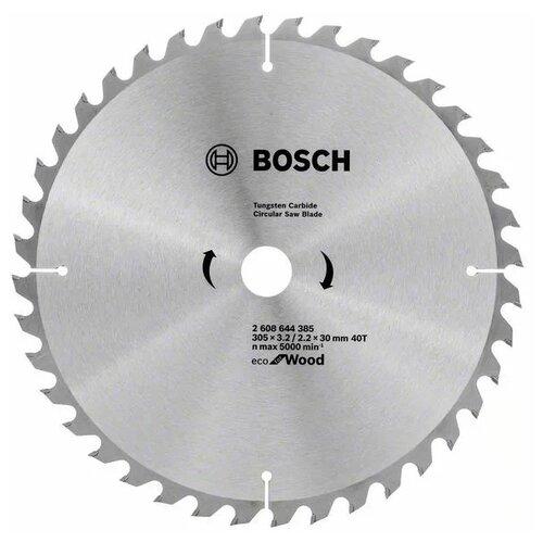 Пильный диск BOSCH Eco for wood 2608644385 305х30 мм диск пильный bosch eco wood 230 ммx30 мм 48зуб 2608644382