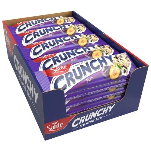 Злаковый батончик Sante Crunchy с со сливой в ванильной глазури, 25 шт