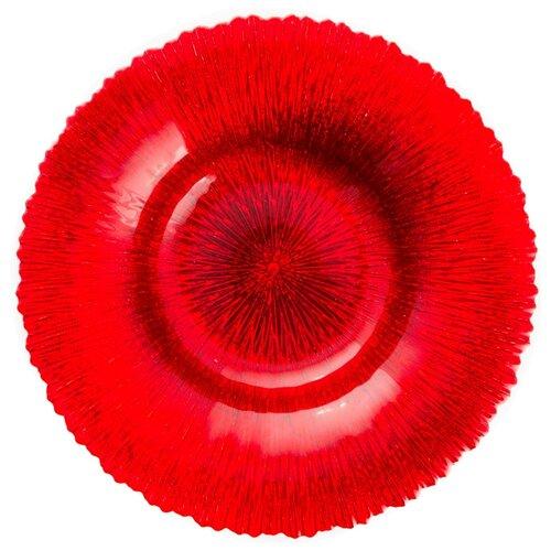 Akcam Блюдо Рубин 40 см красный