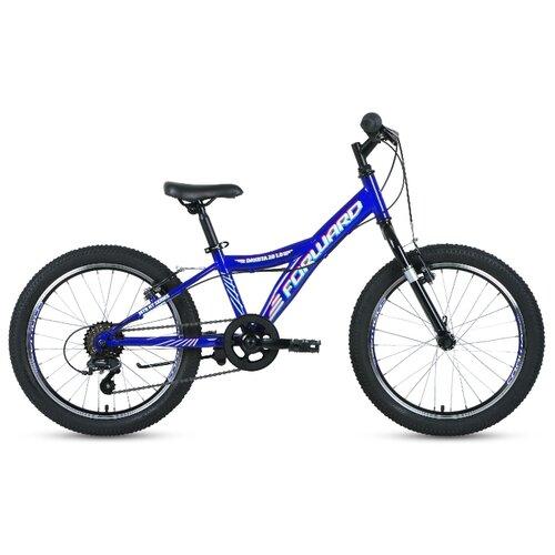 Подростковый горный (MTB) велосипед FORWARD Dakota 20 1.0 (2020) синий/белый 10.5 (требует финальной сборки) подростковый горный mtb велосипед forward dakota 24 1 0 2020 черный 13 требует финальной сборки