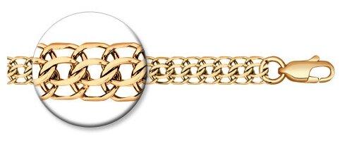 SOKOLOV Цепь питон ручная вязка из золочёного серебра 988150504 — купить по выгодной цене на Яндекс.Маркете