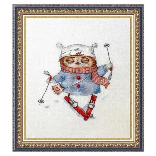 Купить NeoCraft Набор для вышивания крестиком Лыжница 15 x 15 см (св-15), Наборы для вышивания