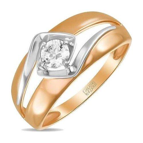 ЛУКАС Кольцо с 1 фианитом из красного золота R01-Z-59843-Z, размер 17 фото