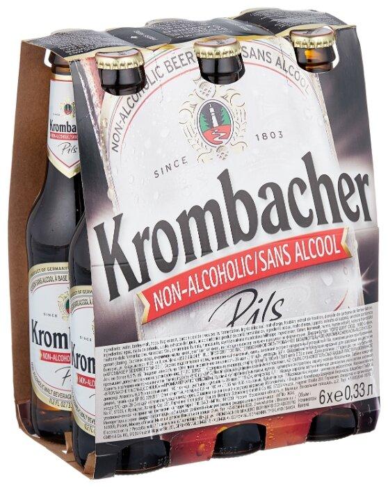 Светлое пиво Krombacher безалкогольное 0,33 л 6 шт