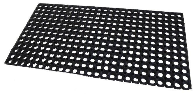 Придверный коврик RemiLing Резиновая решётка, размер: 1х0.5 м, черный
