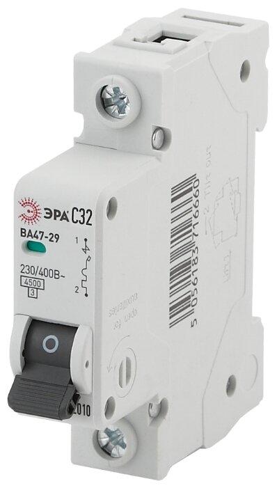 Купить Автоматический выключатель ЭРА ВА 47-29 1P (C) 4,5kA 32 А по низкой цене с доставкой из Яндекс.Маркета