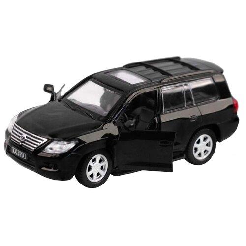 Купить Легковой автомобиль Автопанорама Lexus LX570 (J12278/JB1200169) 1:43 11 см черный, Машинки и техника