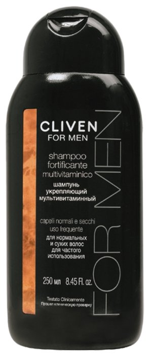 Cliven шампунь For Men укрепляющий мультивитаминный