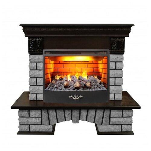 Электрический камин RealFlame Country Lux Rock 25/25,5 + Firestar 25,5 3D античный дуб электрический камин realflame kellie 25 5 26 firestar 25 5 3d белый камень