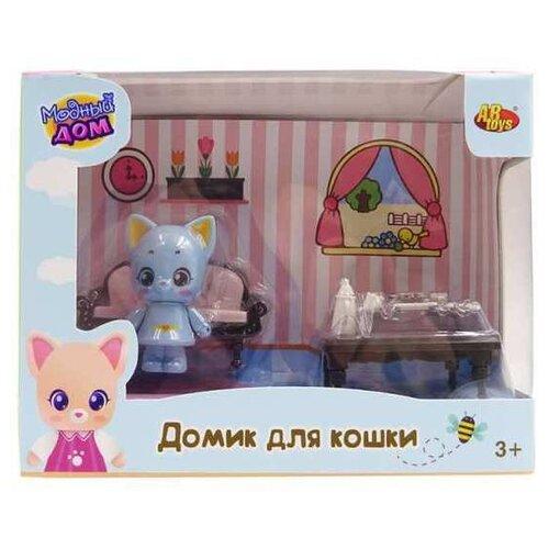 Игровой набор ABtoys Уютный дом - Домик для кошки. Гостиная PT-01306