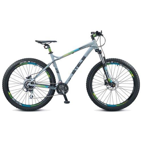 """Горный (MTB) велосипед STELS Adrenalin D 27.5 V010 (2019) серый 20"""" (требует финальной сборки)"""