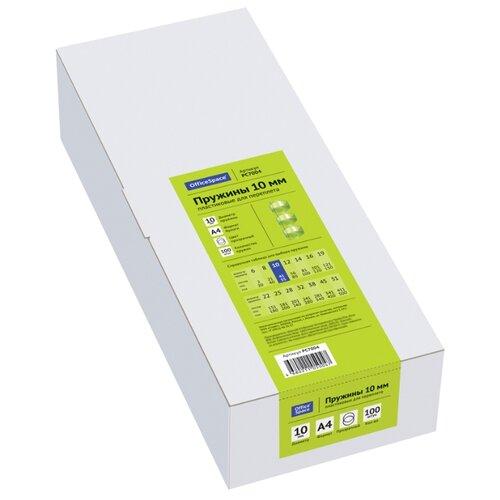 Фото - Пружина OfficeSpace пластиковые 10 мм прозрачный 100 шт. lightstar 006610 светильник proto cr mr16 hp16 хром прозрачный шт