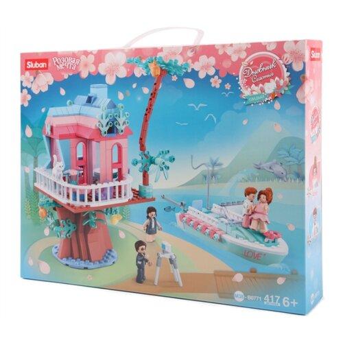 Купить Конструктор SLUBAN Розовая мечта M38-B0771 Свадебный дом на дереве, Конструкторы