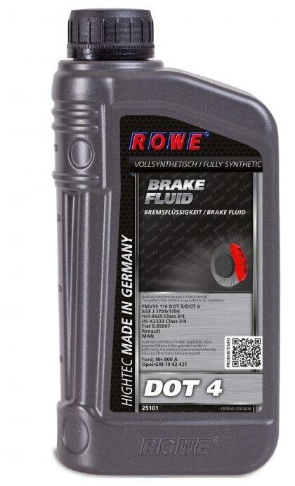 Тормозная жидкость ROWE HIGHTEC BRAKE FLUID DOT 4 1 л