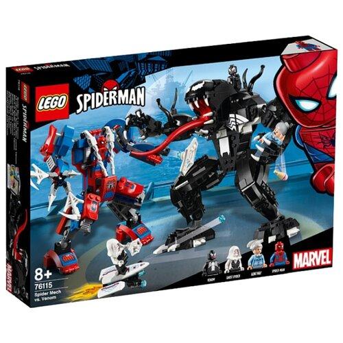 Конструктор LEGO Marvel Super Heroes 76115 Человек-паук против Венома конструктор lego super heroes mighty micros 76070 чудо женщина против думсдэя