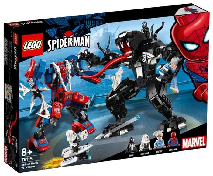 Конструктор LEGO Marvel Super Heroes 76115 Человек-паук против Венома