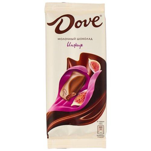 шоколад dove молочный миндально апельсиновый грильяж 90 г Шоколад Dove молочный с инжиром, 90 г