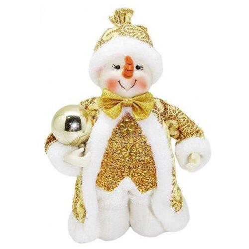 Фигурка Новогодняя Сказка Снеговик 20 см золото фигурка новогодняя magic time снеговик и список подарков высота 8 см