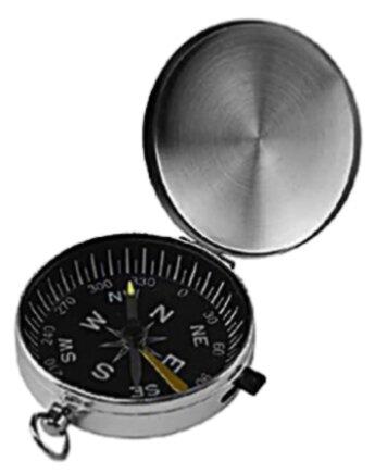 Компас Kromatech 45 мм, с крышкой и фиксатором стрелки (металл) Kromatech (Кроматек)