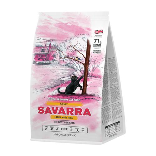 Корм для кошек SAVARRA с ягненком и с рисом 400 г