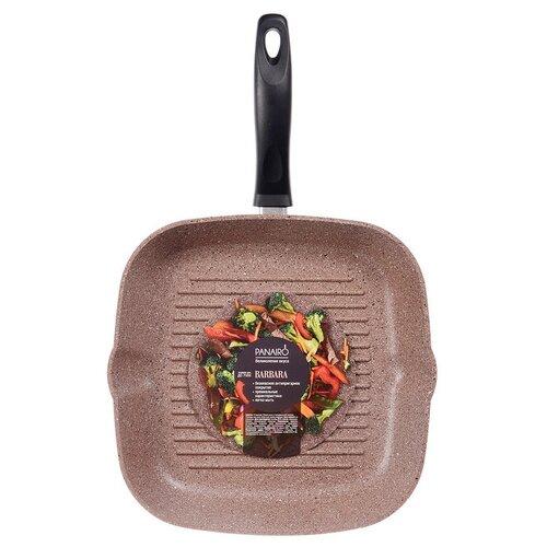 сковорода panairo barbara 26 см ba 26 g Сковорода-гриль Panairo Barbara BA-27-G 27х27 см, терракотовый