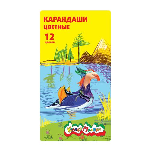 Купить Каляка-Маляка Карандаши цветные в металлическом пенале 12 цветов (ККМ12П), Цветные карандаши
