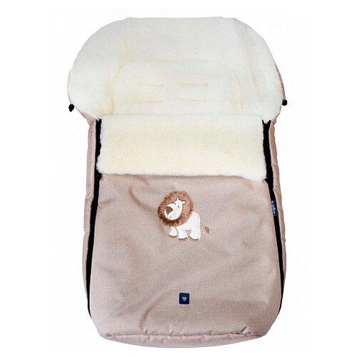 Купить Конверт-мешок Womar S77 Exlusive Lion melange fabric в коляску 95 см бежевый, Конверты и спальные мешки