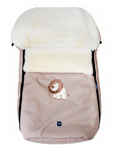 Конверт-мешок Womar S77 Exlusive Lion melange fabric в коляску 95 см