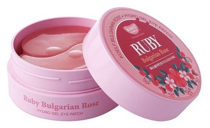 Koelf Гидрогелевые патчи для век с рубиновым порошком и экстрактом болгарской розы Ruby & bulgarian rose eye patch (60 шт.)