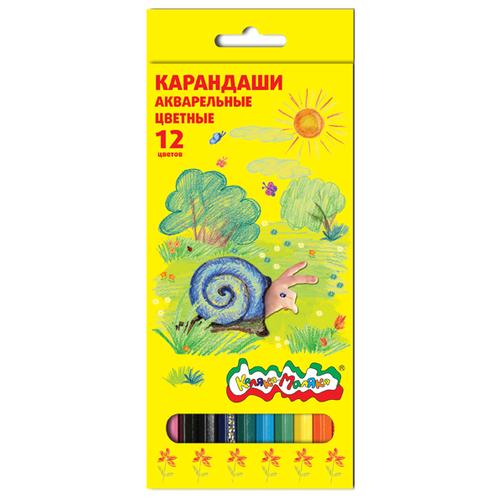 Купить Каляка-Маляка Карандаши акварельные 12 цветов (КАКМ12), Цветные карандаши