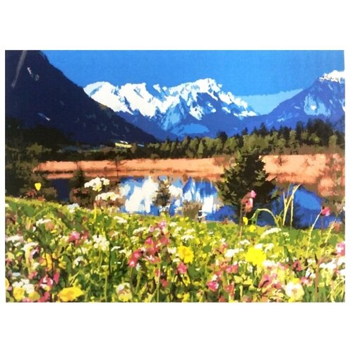 Купить Цветной Картина по номерам Альпы 40х50 см (GX7809), Картины по номерам и контурам
