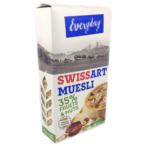 Мюсли Everyday хлопья Swiss Art с фруктами, орехами и семечками, коробка, 300 г