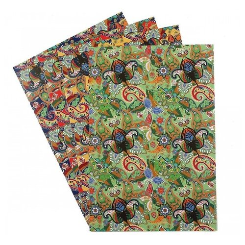 Купить Цветной картон поделочный с тиснением Арабеска Апплика, A4, 4 л., Цветная бумага и картон
