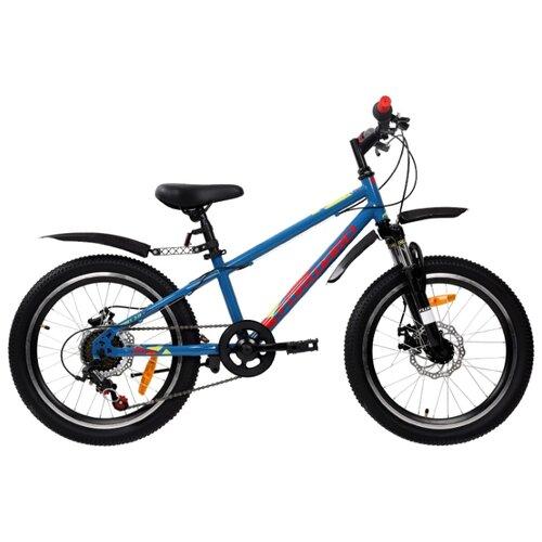 Подростковый горный (MTB) велосипед FORWARD Unit 20 3.0 Disc (2019) синий 10.5 (требует финальной сборки) unit 20 3 0 disc 2019