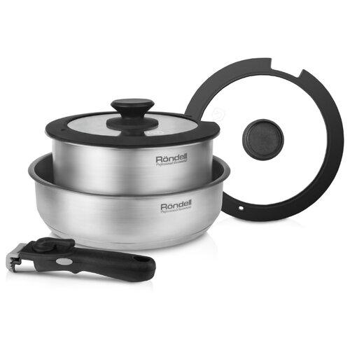 Набор посуды Rondell Stark RDS-934 5 пр. стальнойНаборы посуды для готовки<br>