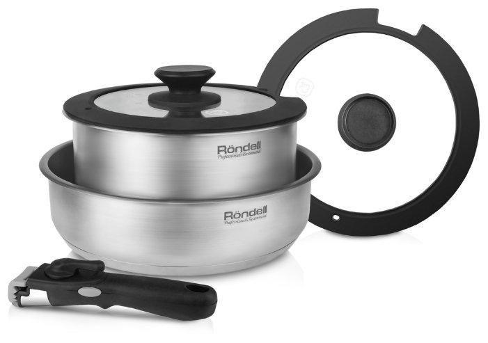 Набор посуды Rondell RDS-934 5 предм: кастрюля с/кр 20 см (3,1 л), сотейник с/кр 24*6,5 см, съемная ручка