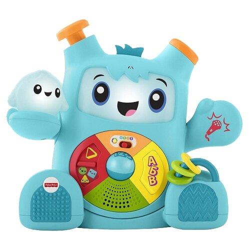 Интерактивная развивающая игрушка Fisher-Price Смейся и учись. Роккит и Спарки (FXD10) синий инерционная игрушка для ванны fisher price джейк и пираты нетландии х1219 b0662