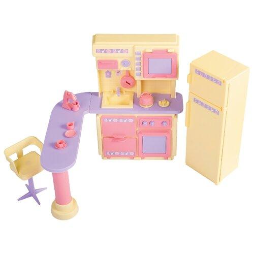 Купить ОГОНЁК Кухня Маленькая принцесса (С-1436/С-1437/С-1438) лимонный, Мебель для кукол
