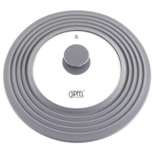 Крышка GIPFEL Gium 1044 (28 см) прозрачный/серый крышка универсальная для посуды gipfel gium 1044 20 22 24 26 28 см с пароотводом
