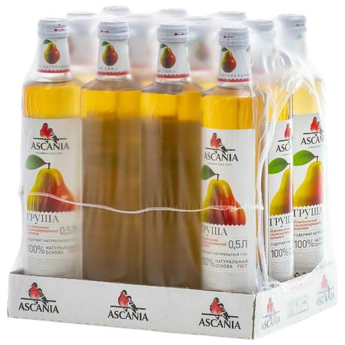 Газированный напиток Ascania Груша, 0.5 л, 12 шт.