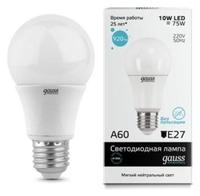 Лампа светодиодная gauss 23220 E27, A60, 10Вт, 4100К