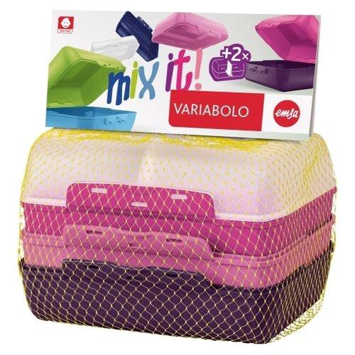 EMSA Набор ланч-боксов Variabolo Girls прозрачный/розовый/фиолетовый набор для салата emsa vienna цвет белый 7 предметов