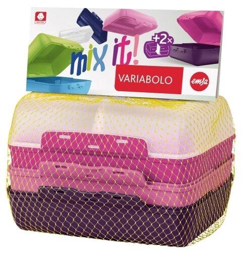 EMSA Набор ланч-боксов Variabolo Girls прозрачный/розовый/фиолетовый
