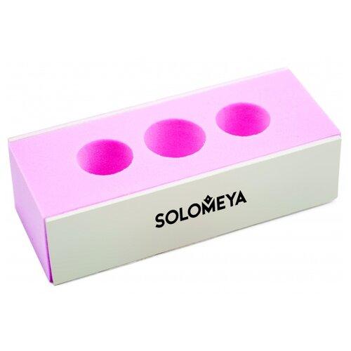 Solomeya Блок-полировщик 2 WAY BLOCK BUFFER с отверстием под пальцы белый/розовый