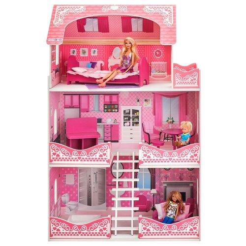 Купить PAREMO кукольный домик Розет Шери (с мебелью) PD318-08, розовый/белый, Кукольные домики