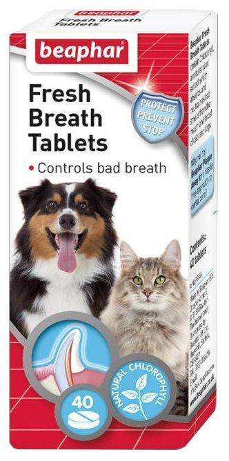 Таблетки Beaphar Fresh Breath Tablets от запаха из пасти для кошек и собак
